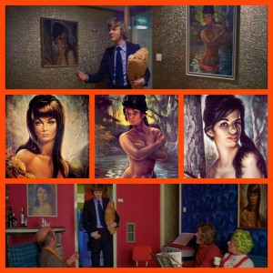 "1971 ""A Clockwork Orange"" movie screen shots featuring JH Lynch Art"